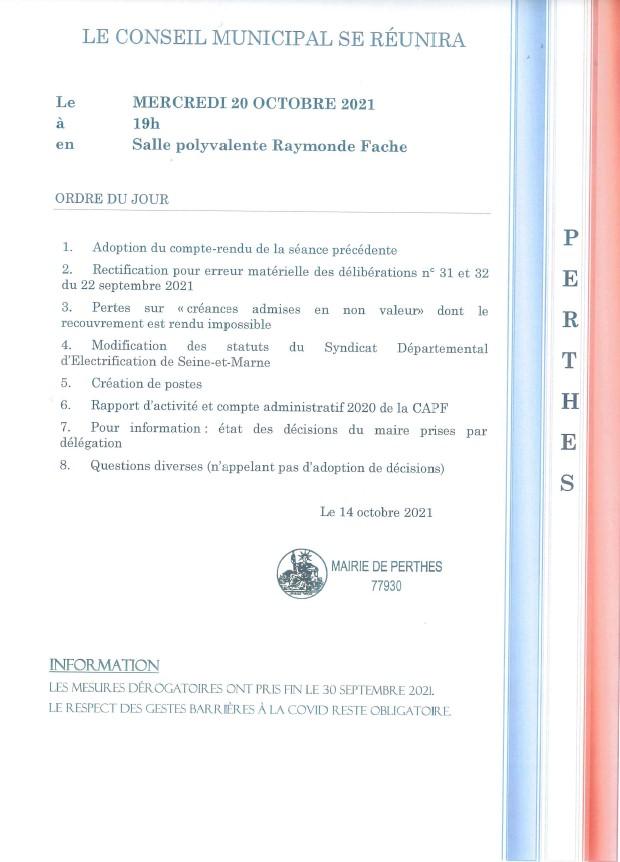 Conseil Municipal @ Salle polyvalente Raymonde Fache